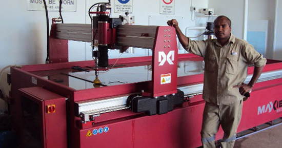 Steel Industries Save Time and Money with a Waterjet