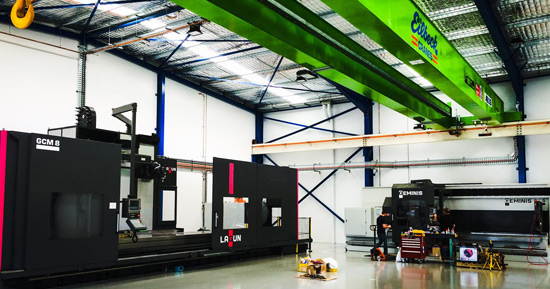 Eilbeck Cranes Expands their Capability with Goratu Milling and Lathe Machines