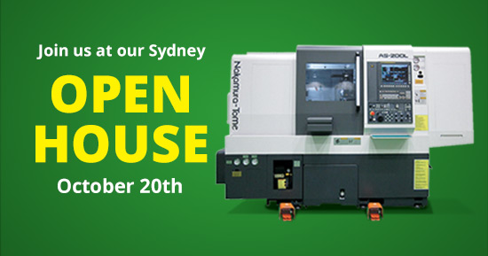 Join Us at our Sydney Open-House and See the Nakamura-Tome AS-200LMY in Action - 20 October