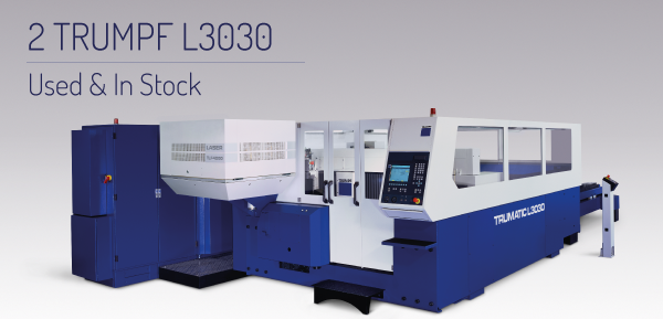 Two Second Hand TRUMPF L3030 Machines For Sale