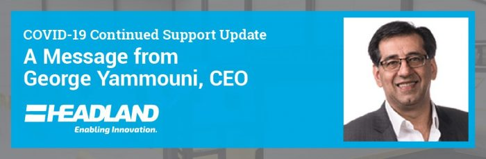 COVID-19 Continued Support Update: A Message from George Yammouni, CEO
