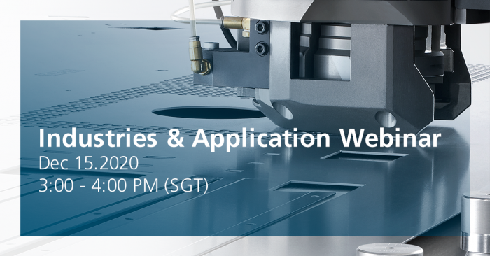 TRUMPF's Punching & Combination Webinar - Applications & Industries, 15 December