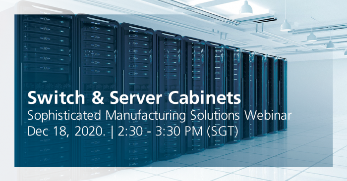 TRUMPF's Switch & Server Cabinets Webinar - 18 December