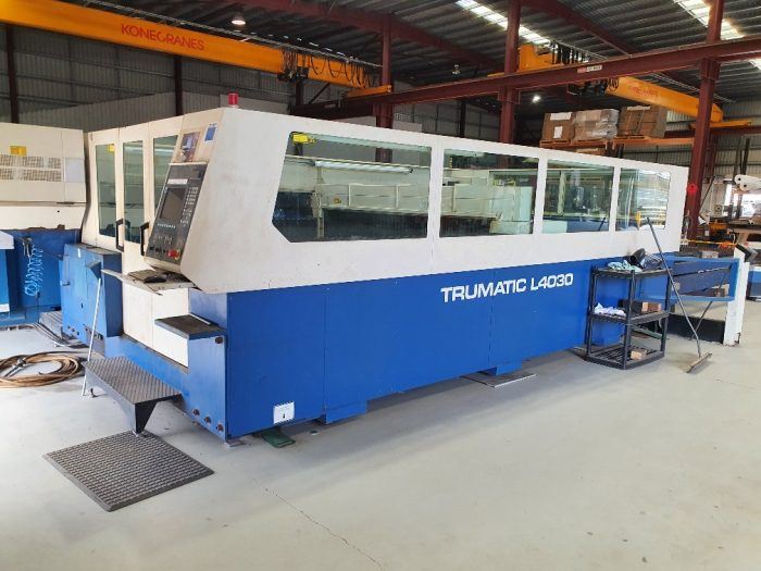 Second-Hand TRUMPF TruLaser 4030 with Rotolas For Sale